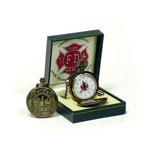 Maltese Cross Firefighter Pocket Watch