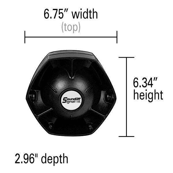 SoundOff 100D Series Professional Speaker with Universal Bale Bracket