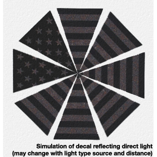 TheFireStore Exclusive Black Reflective Stars & Stripes Helmet Triangles