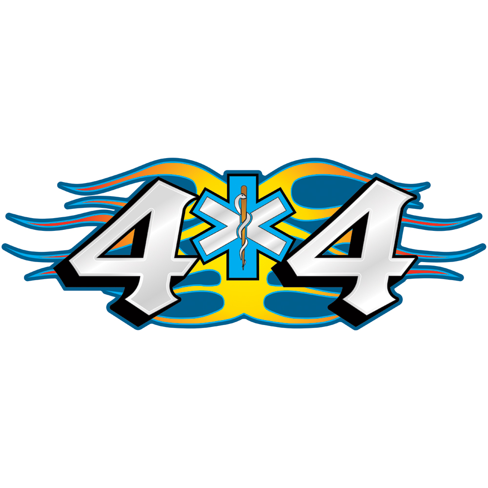 Decal 4 X 4 Truck Blue & White SOL, 4