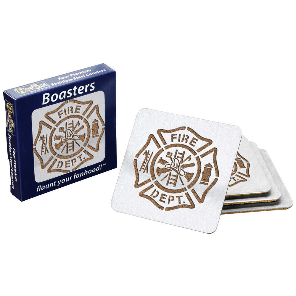 Sportula Maltese Cross Boasters (Coasters) – Stainless Steel & Cork