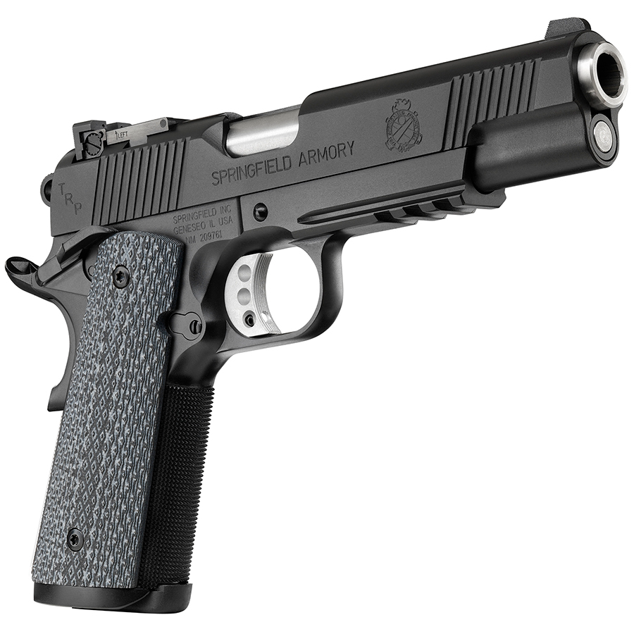 Springfield Armory Model 1911 TRP .45 ACP Handgun with Black Frame and Accessory Rail