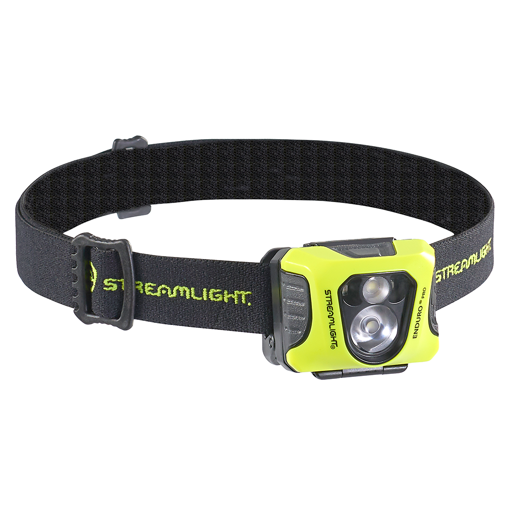 Streamlight Enduro Pro USB Headlamp with USB Cord, Elastic Headstrap, Rubber Hard Hat Strap, and 3M® Dual Lock®