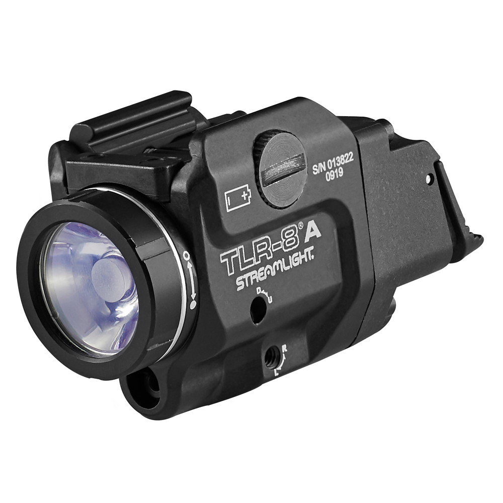Streamlight TLR-8A Compact Rail Mounted Flex Tactical Light with Red Laser Sight
