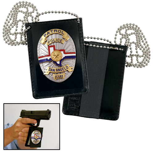Strong Undercover Badge and ID Holder with Chain