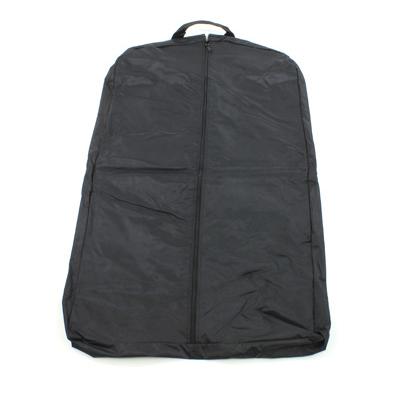 Strong Leather Ballistic Nylon Garment Bag, Black