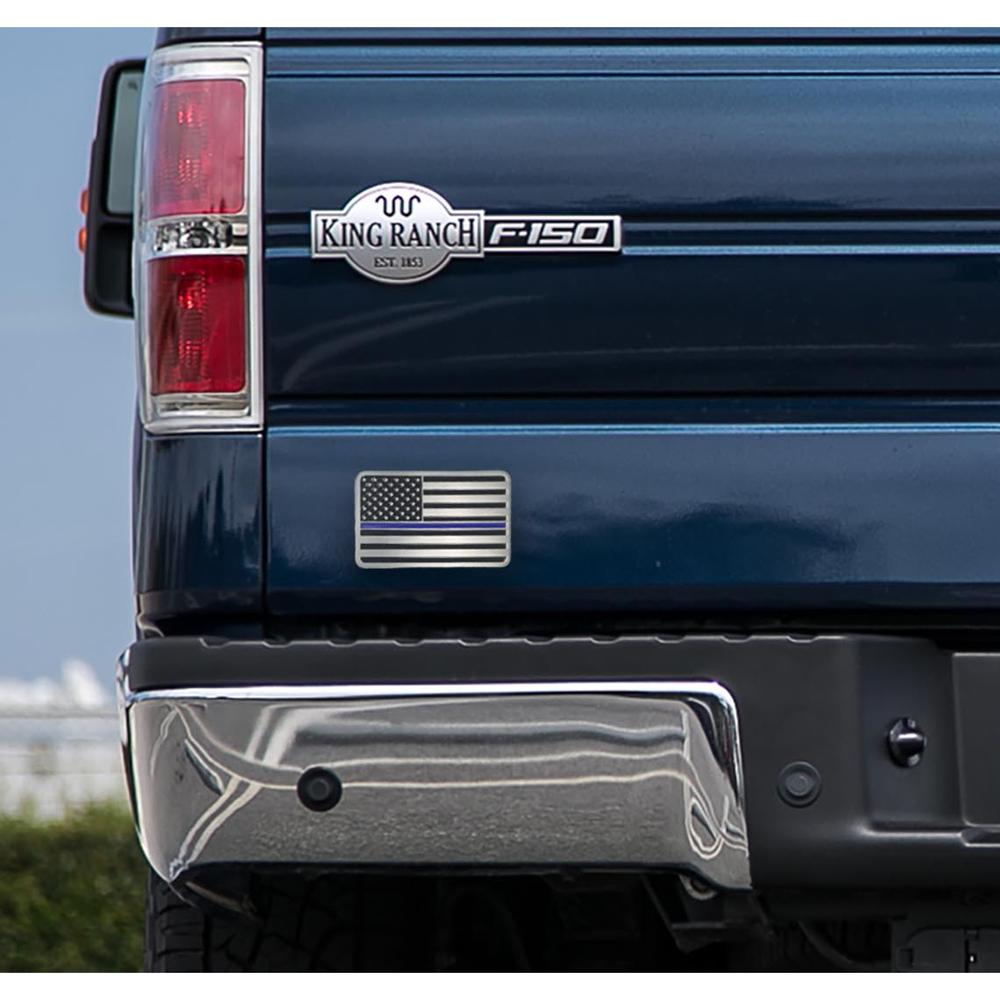 Thin Blue Line USA Car Emblem