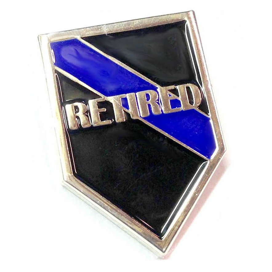Thin Blue Line USA Retired Officer Pin