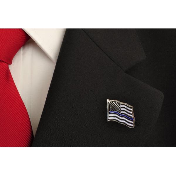 Thin Blue Line USA Thin Blue Line American Flag Pin