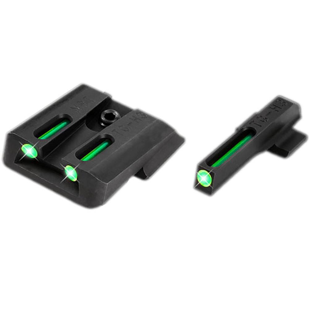 TruGlo Fiber Optic Green/Green Brite Sight Set for S&W M&P