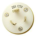 Tele-Lite Adapter, Male 125V TwistLock to Female 120V Straight Blade, 15A