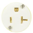 Tele-Lite Adapter, Male 20A Twist Lock to Female 15A, 120V Straight Blade