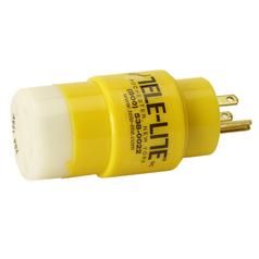 Tele-Lite Adapter, Male 15A, 125V Straight  Blade to Female 20A, 120V Twist Lock