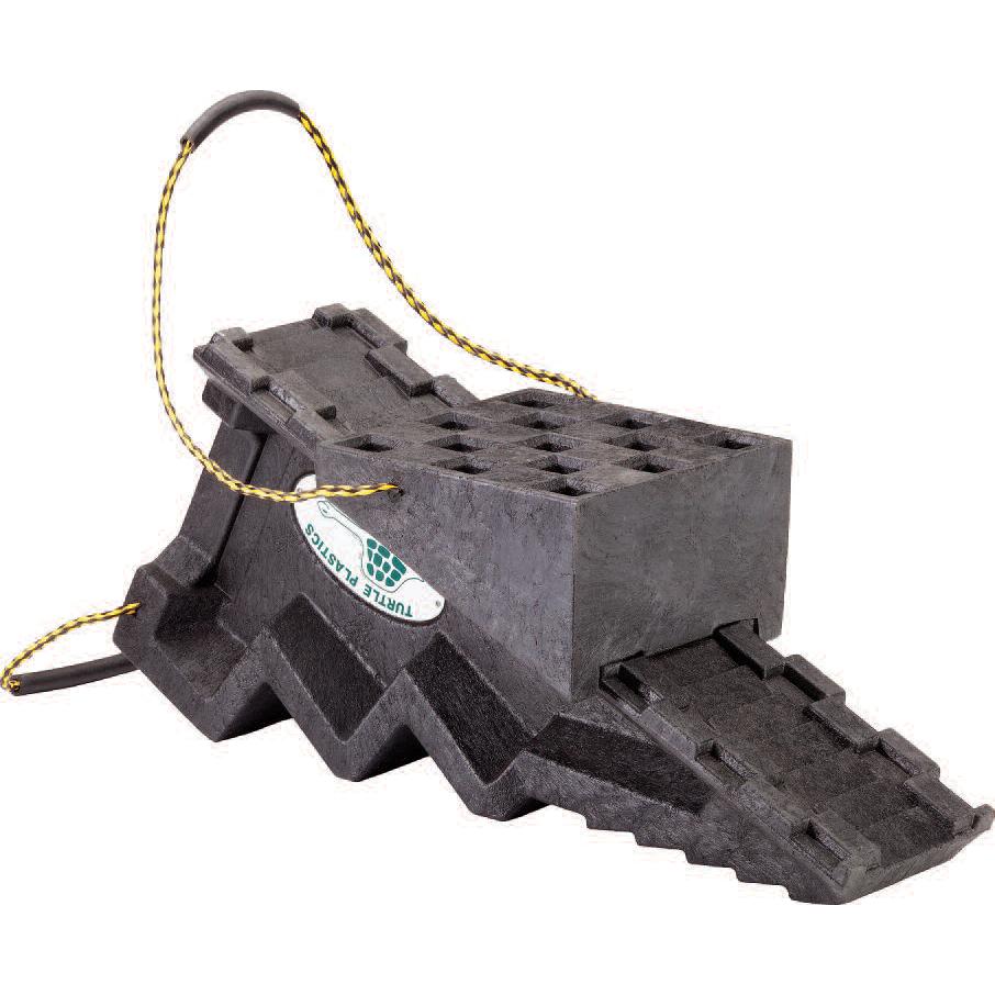 Turtle Plastics Cog Style Step Chock with Traveling Platform
