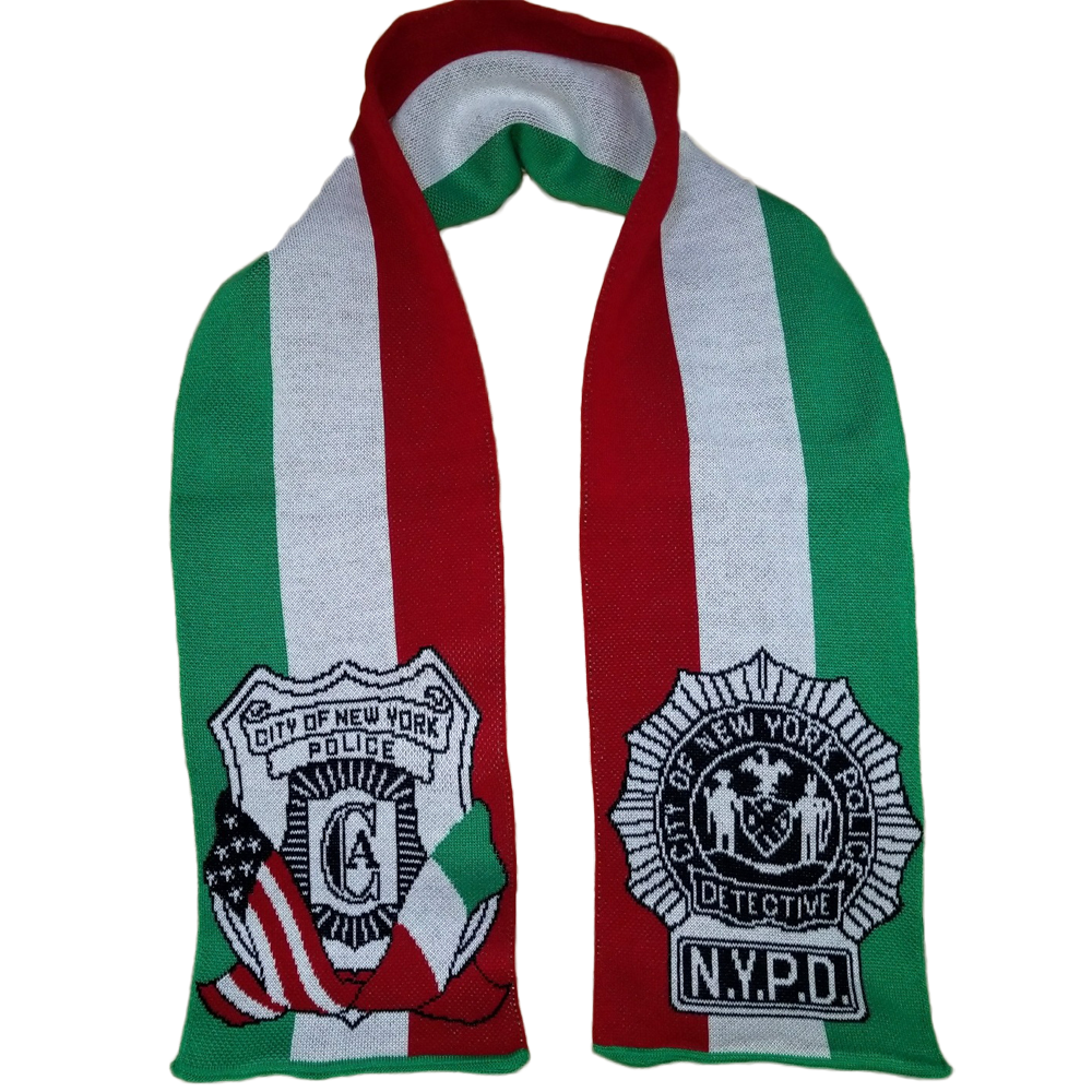 USA Blanket and Scarf Italian NYPD Scarf