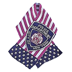 USA Blanket and Scarf NYPD Patch American Flag Scarf