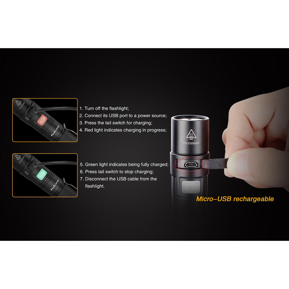 Fenix UC35 Flashlight, 960 Lumens, 5.9