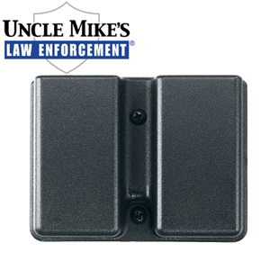 Uncle Mike's Kydex Double Mag Holder, Fits Two Double Stacked Magazines Side-By-Side