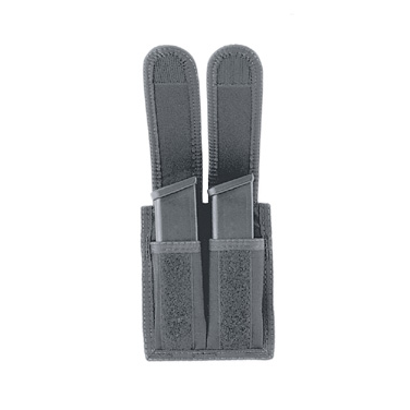 Uncle Mike's Universal Dual Pistol Mag Case, VELCRO® brand Closure, Black Cordura Nylon