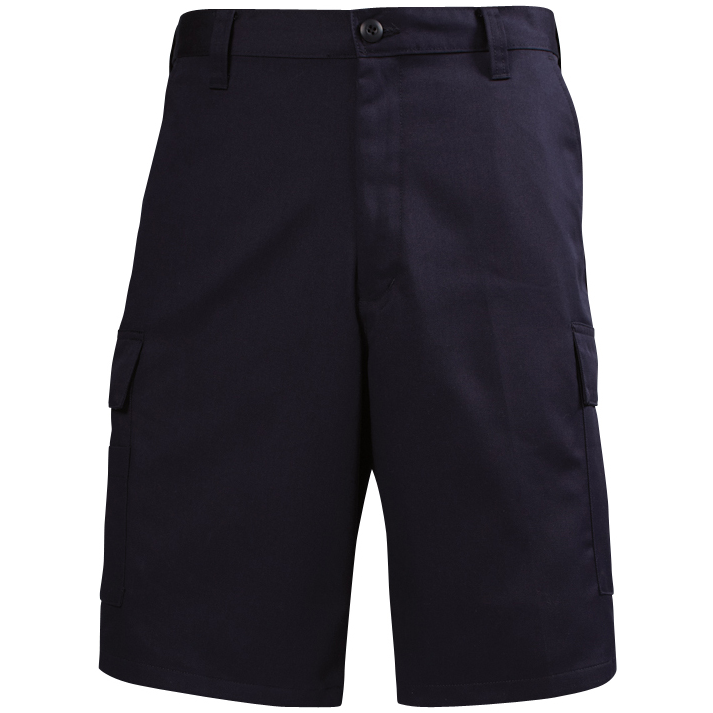 Lion EMS Navy Flat Front Shorts, 100% Cotton 7.75 oz/yd Twill Weave