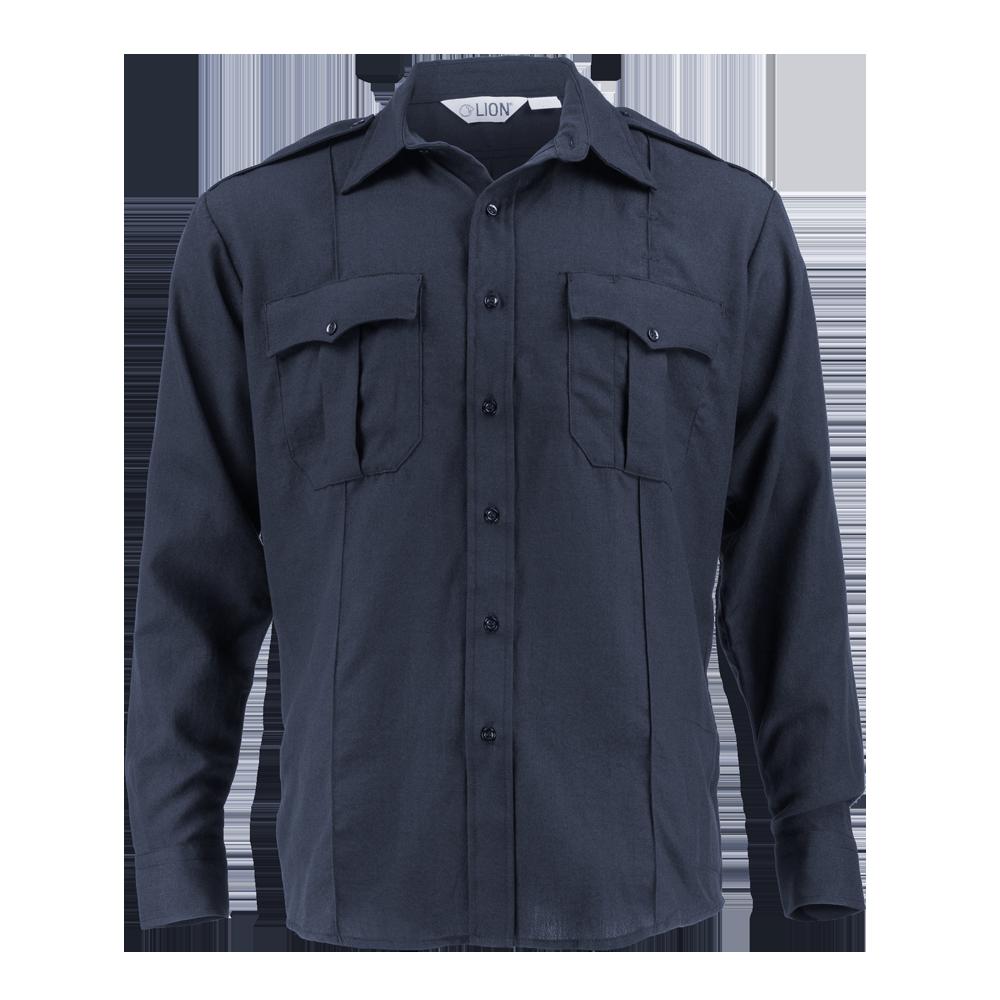 Plain Weave Navy Bravo Long Sleeve Shirt 4.5oz. Nomex IIIA