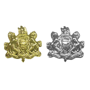 Tie Tac with Pennsylvania Coat of Arms, Gold or Silver