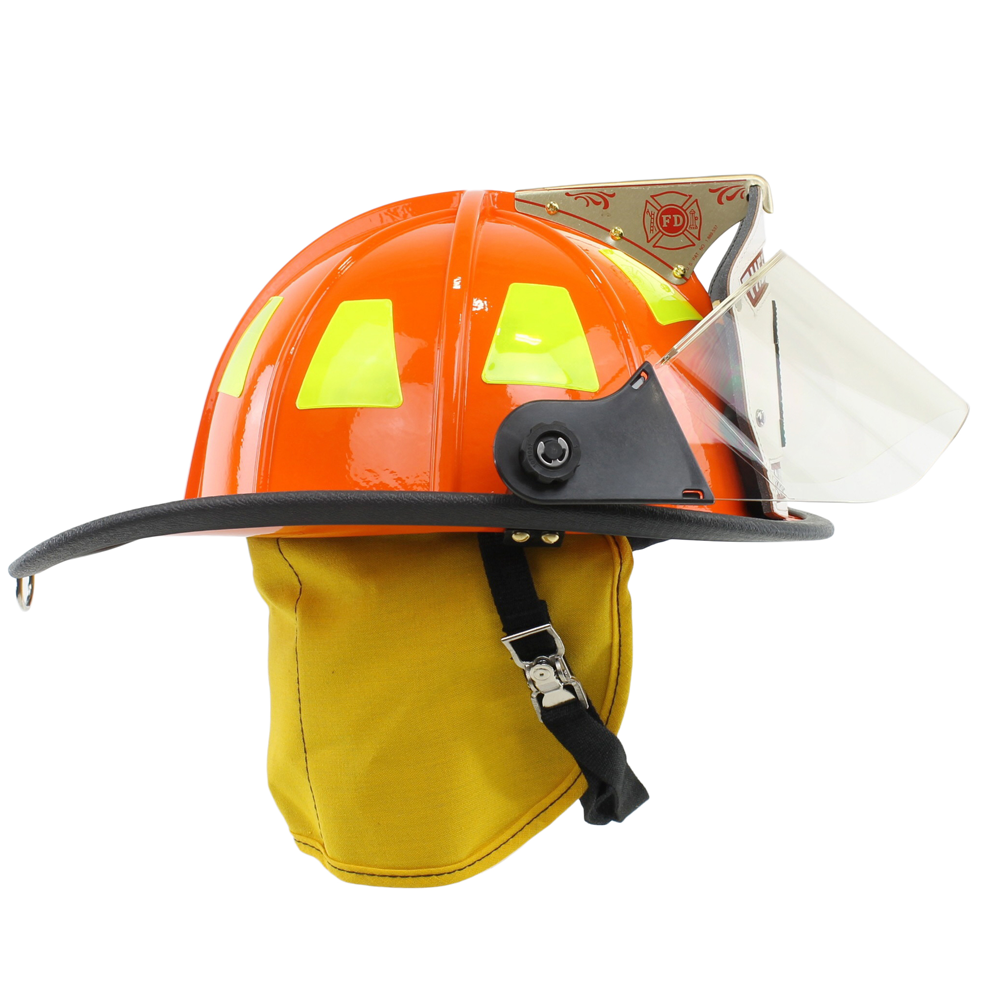 Cairns Orange 1010 Traditional Fiberglass Helmet, NFPA, OSHA