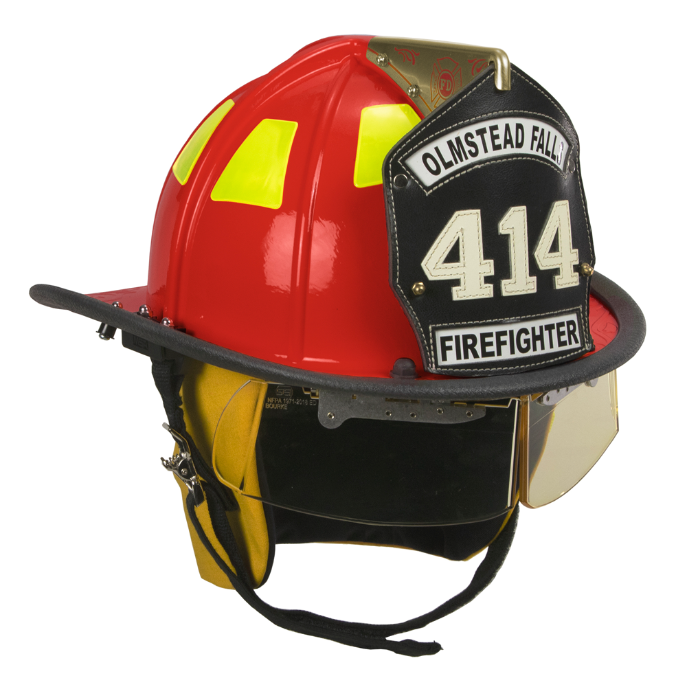 Cairns Red 1010 Traditional Fiberglass Helmet, NFPA, OSHA