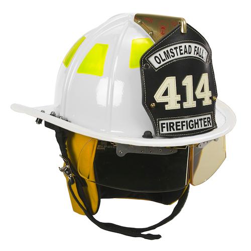 Cairns White 1010 Traditional Fiberglass Helmet, NFPA, OSHA