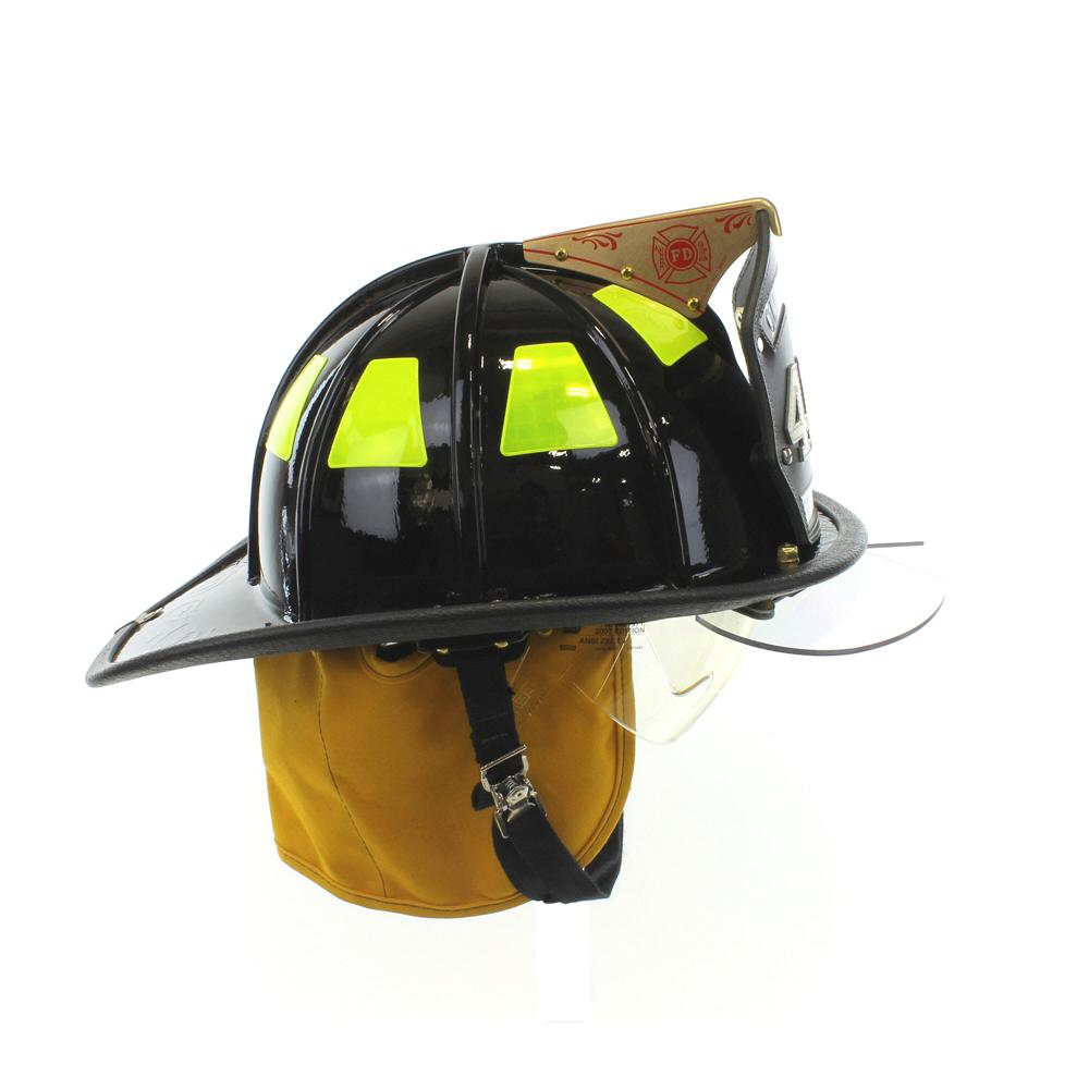 Cairns 1010 Black Traditional Fiberglass Helmet, NFPA, OSHA