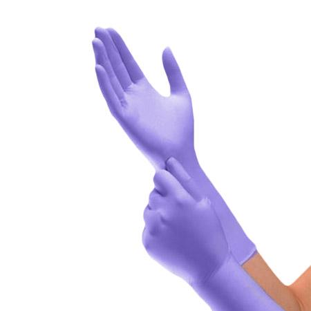 Halyard Health Safeskin XTRA Disposable Nitrile Gloves, Purple