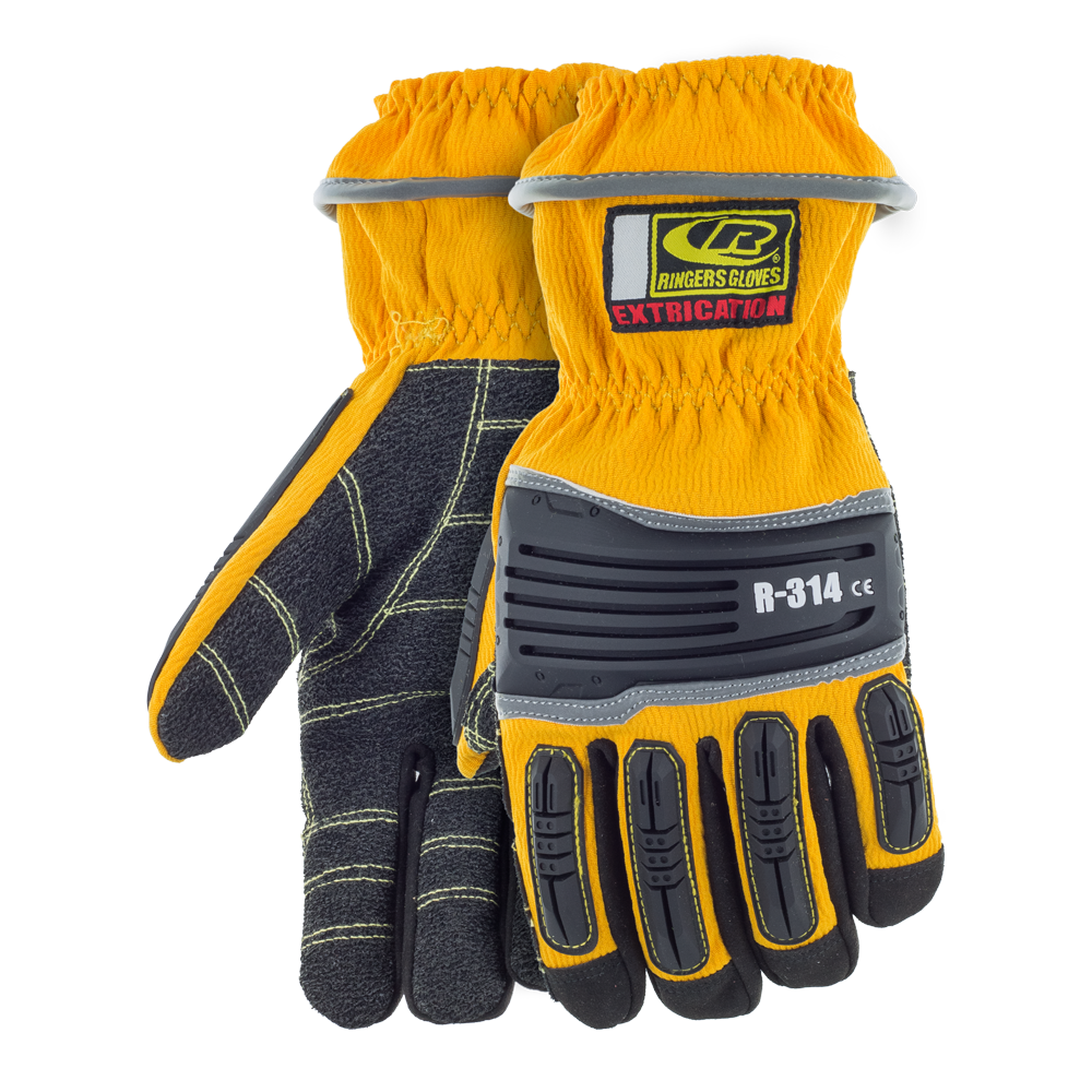 Ringers Extrication Glove, Short Cuff, Yellow