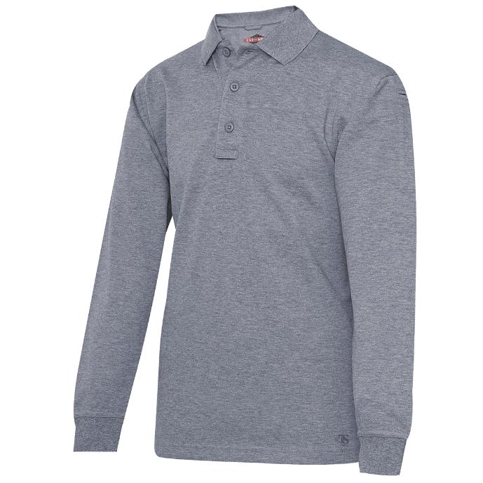 Tru-Spec 24-7 Heather Gray Long Sleeve Polo Shirt