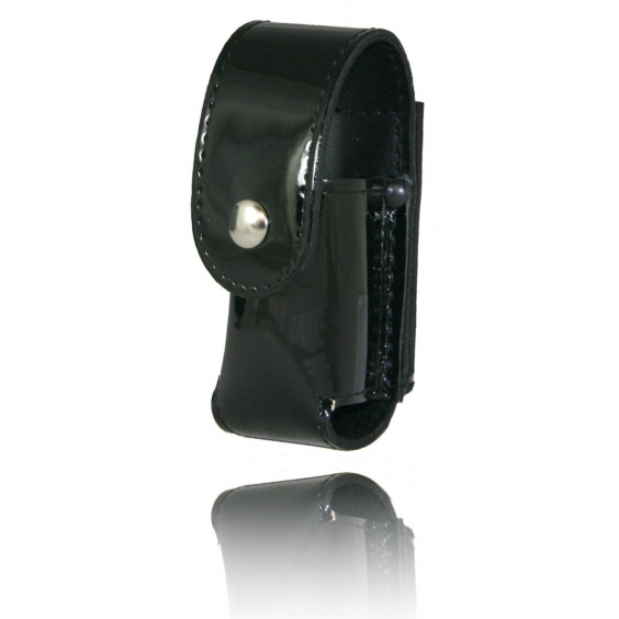 Boston Leather Chemical Spray Holder with Snap Closure