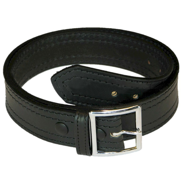 Boston Leather 4 Row Stitch Garrison Belt