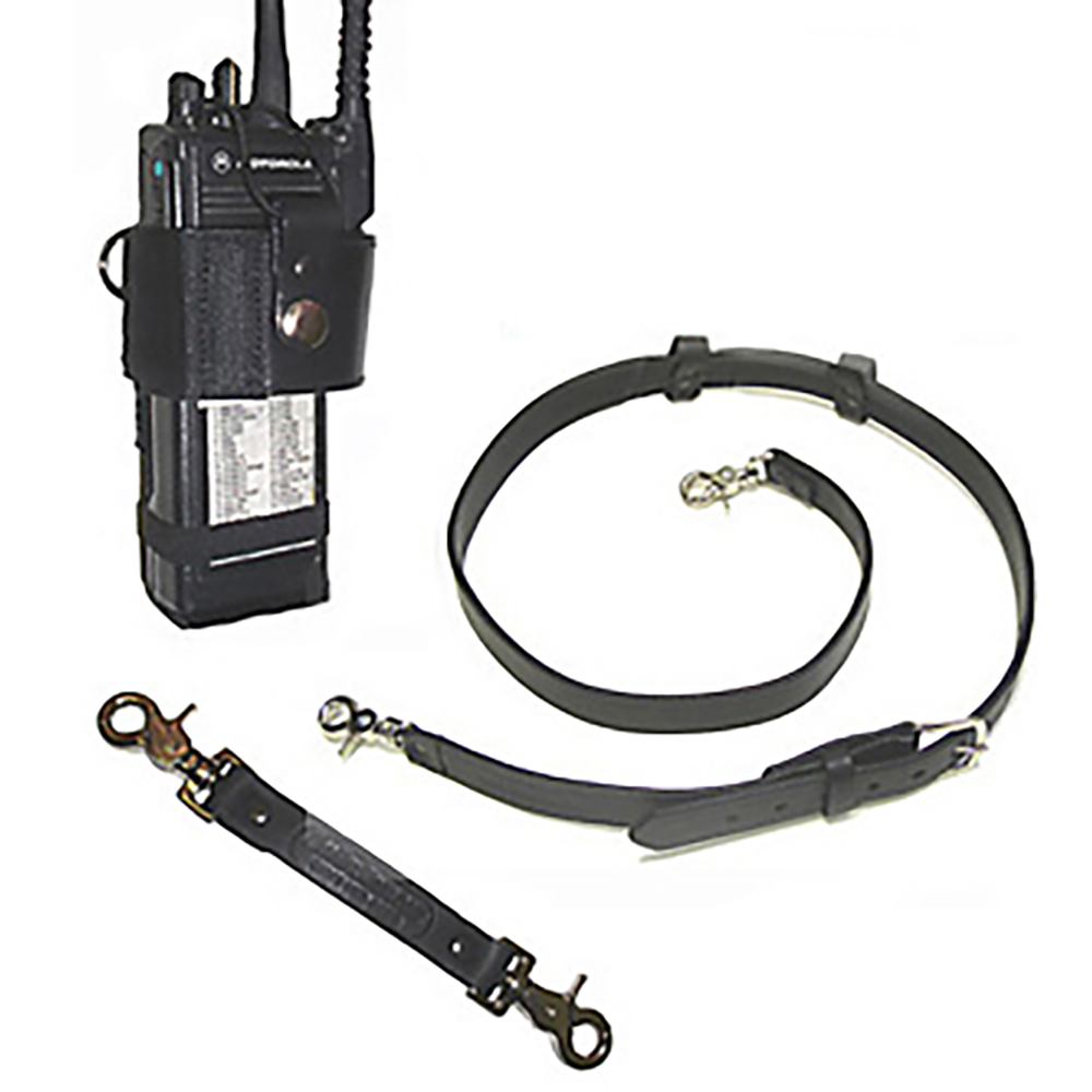 Boston Leather Leather Radio Strap, Holder and Anti-Sway Strap