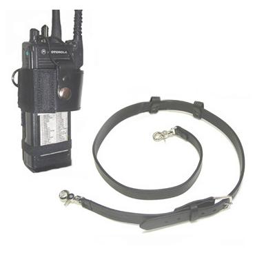 Boston Leather Radio Strap & Radio Holder Combo
