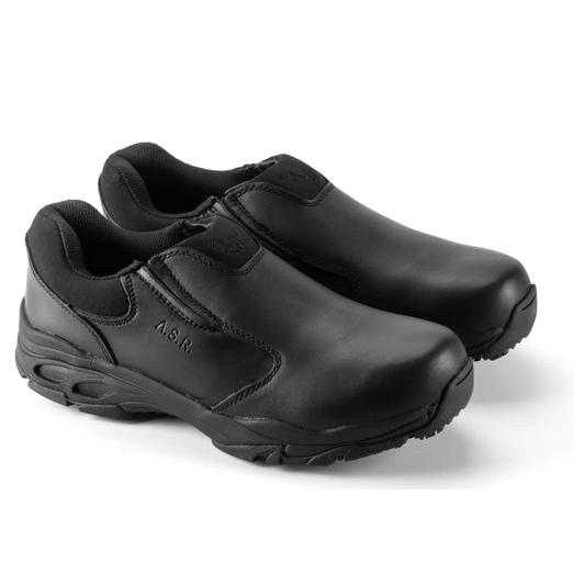 Thorogood ASR Black Leather Slip-On Shoe