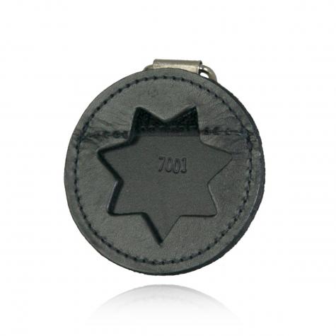 Boston Leather Round Leather K-9 Badge Holder