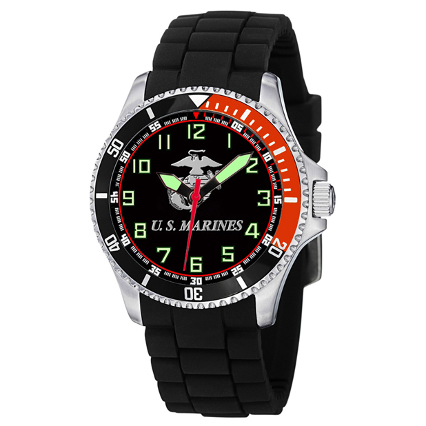 Aquaforce Model 62, Stainless Steel Analog Watch with Branch Logo on Face