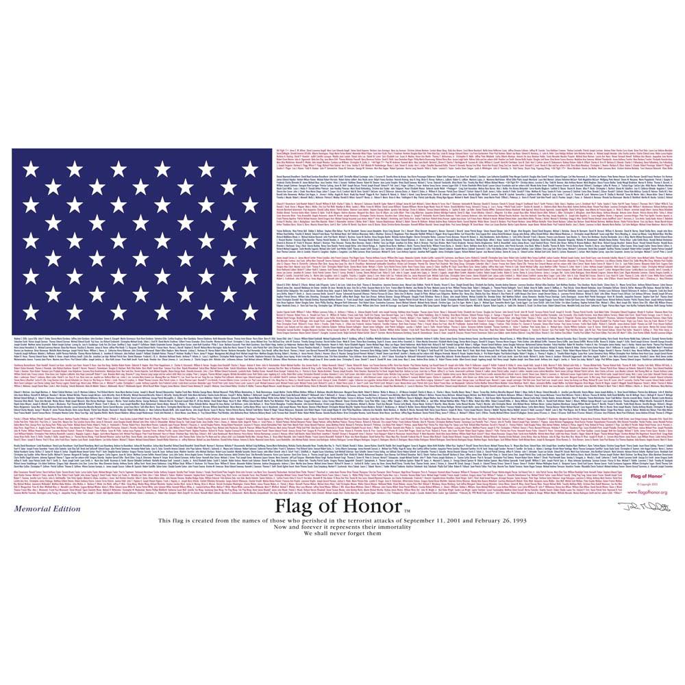 Annin Flagmakers Flag of Honor, Memorial Edition