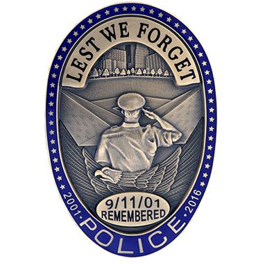 Blackinton 911 Oval Police Badge, Bronze