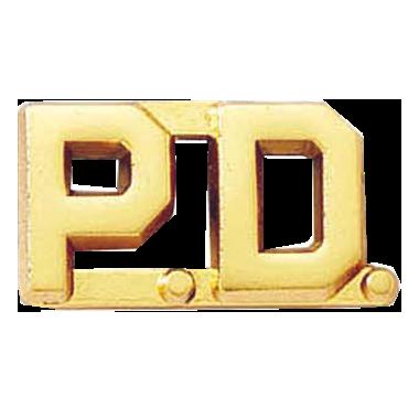 Blackinton P.D. Letter Pin