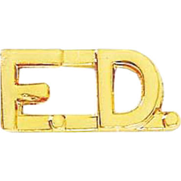 Blackinton F.D. Rounded Letter Combination Pin