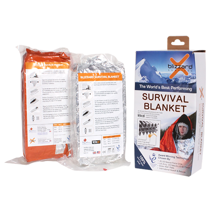 PerSys Medical Blizzard Survival Blanket, Orange