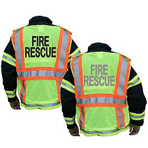 Lakeland Hi-Vis Public Safety Vest, 5-Point Breakaway Mesh Polyester
