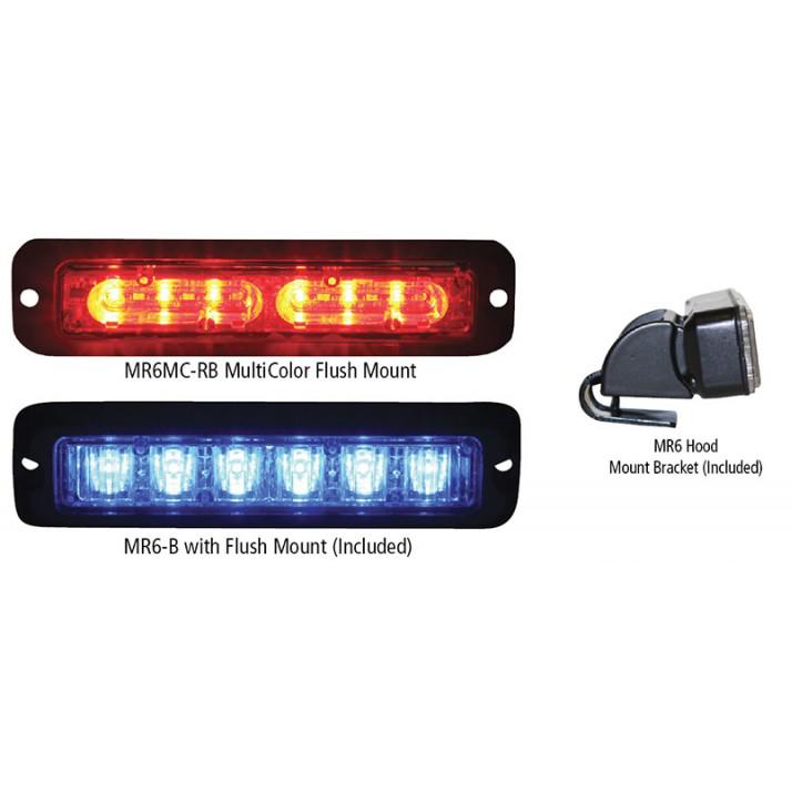 Code 3 MR6 TriColor LED Lighthead
