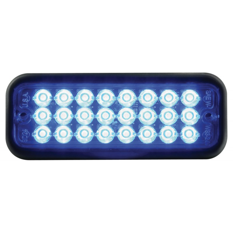 Code 3 Surface Mount LED with Rubber Bezel