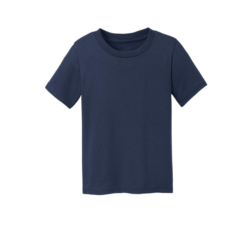 SanMar Precious Cargo Short Sleeve Cotton Toddler T-Shirt, Navy