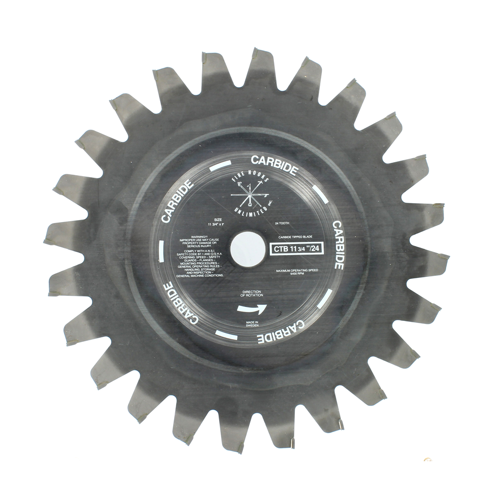 Fire Hooks Unlimited Carbide Tip Power Saw Blades, 12